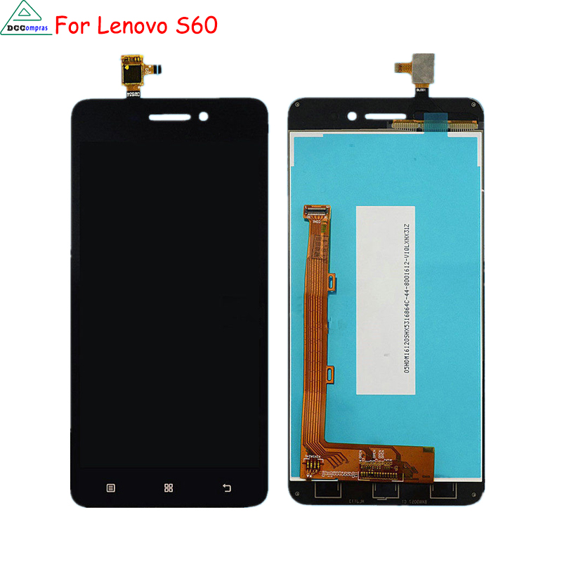 For Lenovo S60 LCD Display Touch Screen Digitizer Mobile Phone Parts For Lenovo S60 Screen LCD Free Tools image
