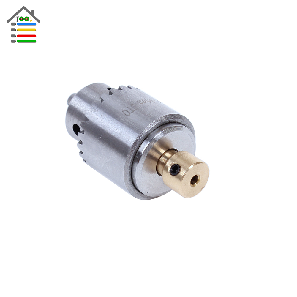 AUTOTOOLHOME Mini Electric Drill Chuck 0.3-4mm JT0 Taper Mounted Lathe Chuck PCB Drill Press For 2.3mm Small Motor Shaft autotoolhome mini dc 12v electric motor for wood pcb hand drill press drilling 0 5 3mm twist bits and jto chucks bracket stand