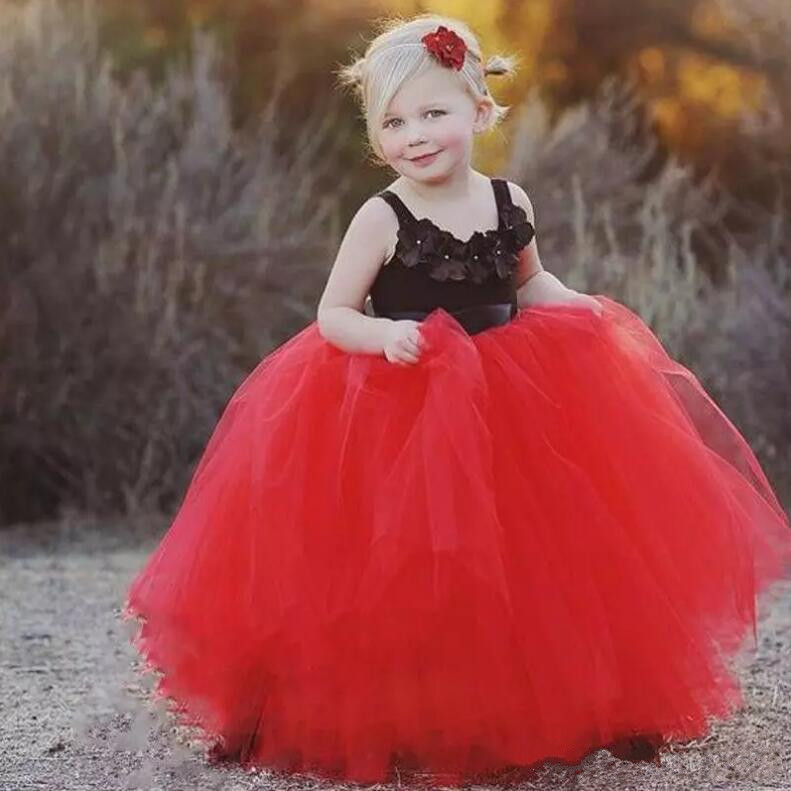 New Red Baby Girls Birthday Dress Ball Gown Kids Formal Wedding Party Gown Flower Girl Dress SIze 2-14Y 4pcs new for ball uff bes m18mg noc80b s04g
