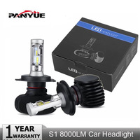 PANYUE Super Bright Auto 2PCS S1 Auto H3 H8 H11 H4 Led H7 Bulb Car Headlight