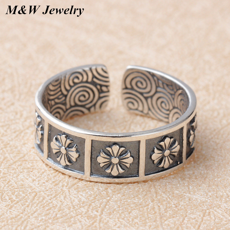 Hot Real 925 Thai silver Devout Cross Rings For Women for Men Luxury European Authentic S925 Fine Jewelry Gift M&WS2500