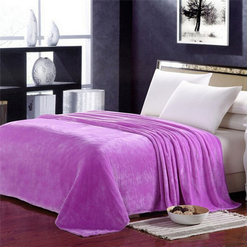 Multicolor Home Textile Fleece Blankets For Bed/sofa/plane Travel Portable Flannel Blanket Super Soft Warm Comfortable Cover Blankets