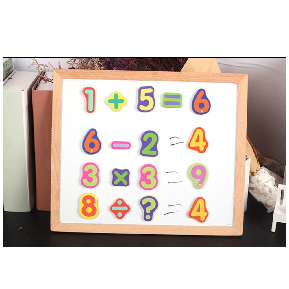 Creative magnétique dessin tableau d'écriture Sketchpad cadeau enfants Intelligence éducation jouet Puzzle Double chevalet enfant en bois jouet - 5