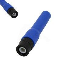 Azul UV Dual segmento Macio 144/430 MHZ Antena para Kenwood SMA M TK100. .. TK200. .. TK210. .. TK220. .. TK300. .. TK310. .. TK320