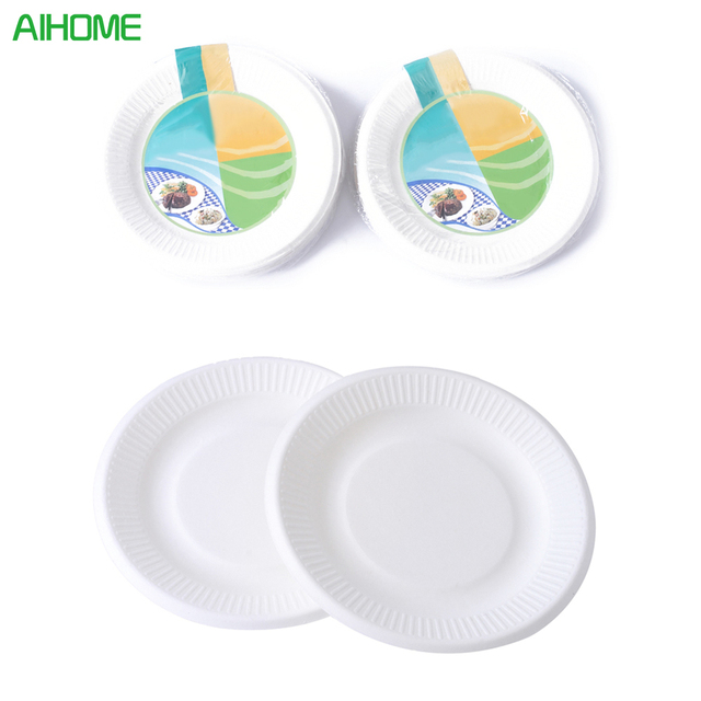 10PCS Disposable Party White Paper Plates For Home Party BBQ Supplies Use Kids Birthday Party  sc 1 st  AliExpress.com & 10PCS Disposable Party White Paper Plates For Home Party BBQ ...
