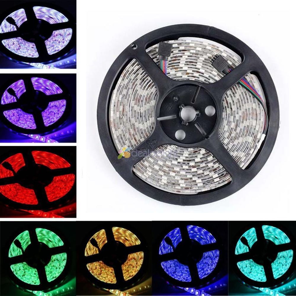 ФОТО 20M DC12V 5M/Lot 5050 SMD 300 Leds RGB Color Epoxy Resin IP65 Waterproof Flexible LED Strip Light