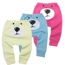 3Pcs/Lot Newborn Baby Boys Girls Baby Girls Pants Unisex Casual Bottom Harem Pants PP Pants Fox Trousers 6M-24M