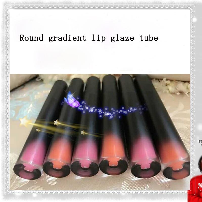 5ML Round Black Gradient Pink Empty Lip Gloss Tube,4ML Square Black Gradient Red Lipgloss Tube,DIY Gradient Lipstick Container комплект белья pink lipstick