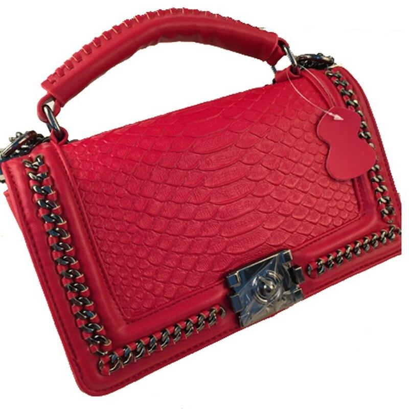 Искусственная кожа Змеиный Для женщин маленькую сумочку модные простые клапаном цепи женщина Сумка Crossbody сумки Мини-дамы сумка