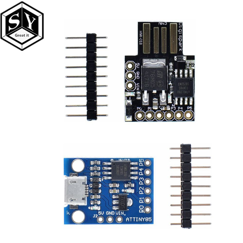 1PCS Blue Black TINY85 Digispark Kickstarter Micro Development Board ATTINY85 module for Arduino IIC I2C USB1PCS Blue Black TINY85 Digispark Kickstarter Micro Development Board ATTINY85 module for Arduino IIC I2C USB