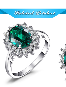 HTB19NB2j.QIL1JjSZFhq6yDZFXa4 JewPalace Princess Diana Simulated Emerald Ring 925 Sterling Silver Rings for Women Engagement Ring Silver 925 Gemstones Jewelry