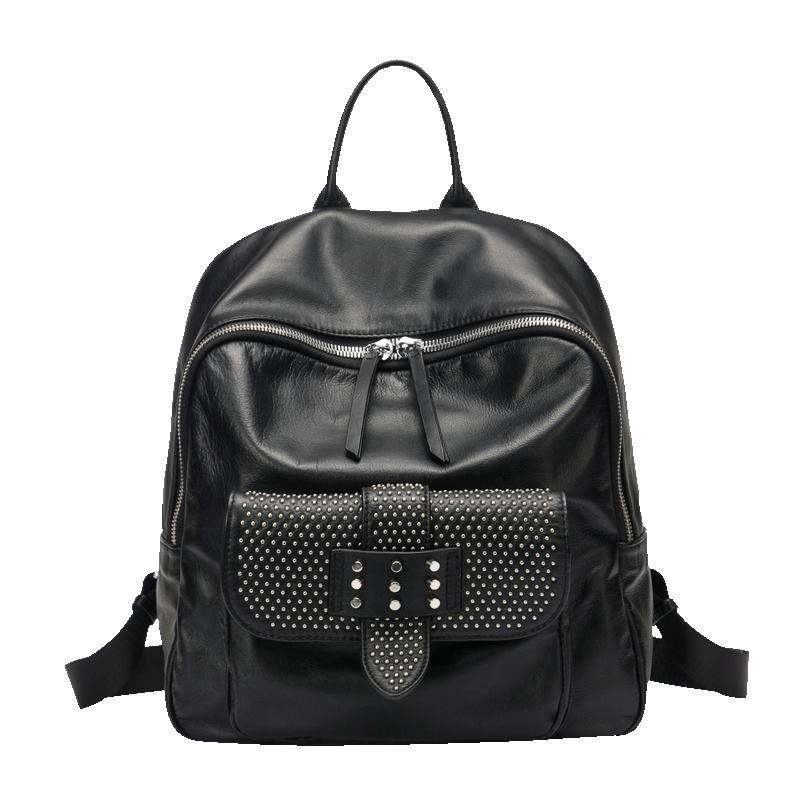 In the autumn of 2017 new head layer Cowhide Leather Handbag Shoulder Bag Lady backpack on behalf of a factory europe and the new spring and summer leather handbag bag simple cross head layer cowhide temperament mini bag tote bag