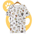 Summer Harajuku Shirt Women's T-shirt Japanese Kawaii Clothes Cat Cute Blusa Peplum Tops Neko Atsume Roupas Casual Vestidos