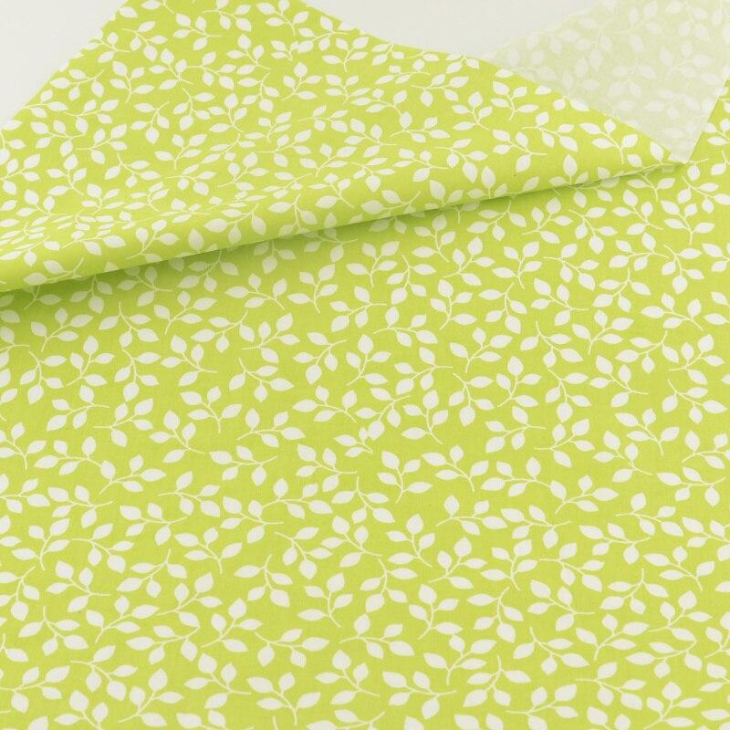 Hoja verde paño de costura artesanía decoración ropa de cama de algodón tela del