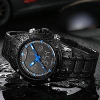 NAVIFORCE Military Sports Watches Men Stainless Steel Fashion Luxury Brand Digital Quartz Analog Wristwatches Relogio Masculino