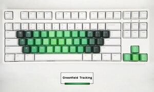 Image 4 - 37 клавишные колпачки для ключей с буквами алфавита, сменные колпачки для ключей, тяжелый окрашенный Радужный профиль OEM PBT, двухсторонний прозрачный колпачок для ключей