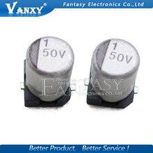 10PCS SMD Aluminum Electrolytic Capacitor 50V 10UF 5*5mm 10UF//50V