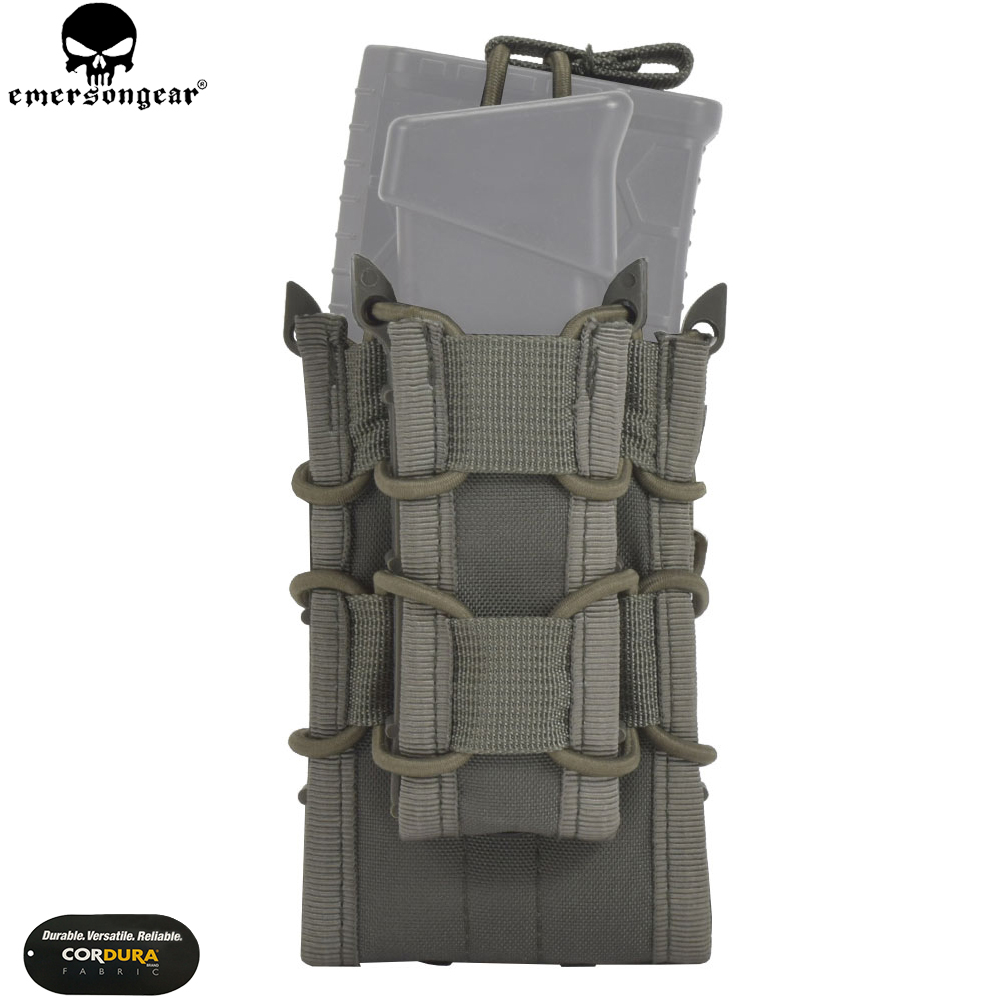 EMERSONGEAR Double Decker Mag Pouch Airsoft Mag Pouches Military Emerson Bag Camouflage MOLLE Mag Holder Coyote Brown Black