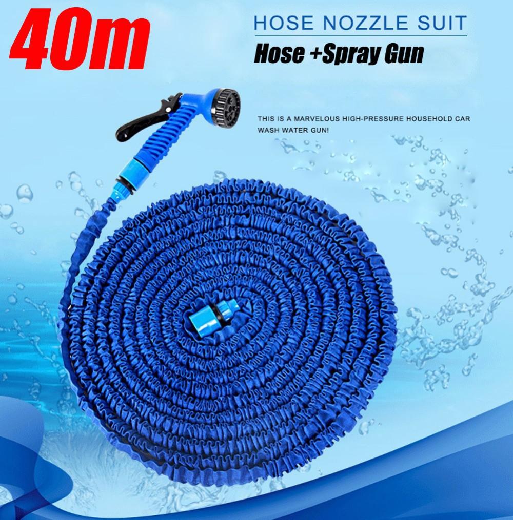 шланг 75 футов гибкая воды шланг латунь пистолет разъем расширения латекс меди автомойки орошения 25 м