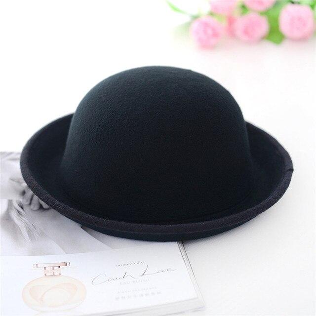 7f4feffbe2d Aliexpress.com   Buy Women Men Chic Vintage Bowler Top Hat Roll Brim ...