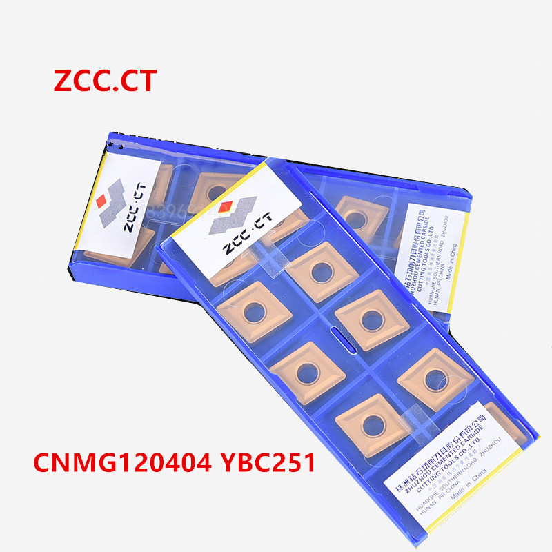 ZCC.CT 10P  CNMG120404 / 120408 / 120412 -PM / -DM / -ZC  YBC251 Indexable Turning Tool Insert CNC Carbide Insert For Steel