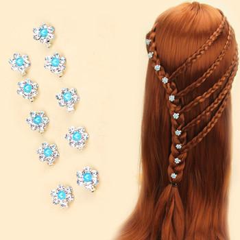 10 sztuk partia kolorowe kryształowe ślubne szpilki do włosów dla nowożeńców kwiat klip spinki do włosów stroik dekoracji biżuteria akcesoria tanie i dobre opinie Moda Hairwear Tytanu ceramic TRENDY Opaski Zwierząt aomu