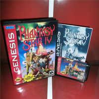 Phantasie Stern 4 UNS Abdeckung mit kasten und handbuch Für Sega Megadrive Genesis Videospielkonsole 16 bit md-karte