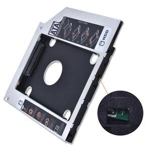 """TISHRIC 2018 алюминиевый Универсальный 2-й HDD Caddy 9,5 мм SATA 3,0 Optibay чехол 2,5 """"SSD DVD диск коробка корпус адаптер для ноутбука"""