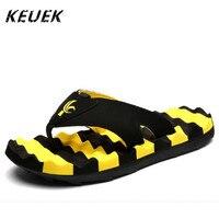 Erkekler Moda Terlik chinelo Erkek Sandalet ayakkabı Kişilik Yaz Kayma dirençli Plaj çevirme zapatillas pantufas Flats 022