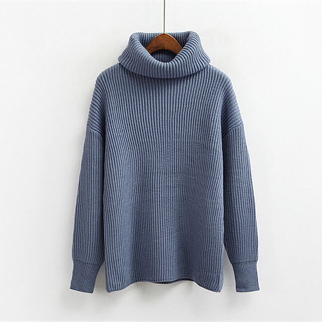 New Runway Designer Basic Sweater Women Winter Pullover Knitted Sweater Top for Women Autumn Female Casual Turtleneck Sweaters