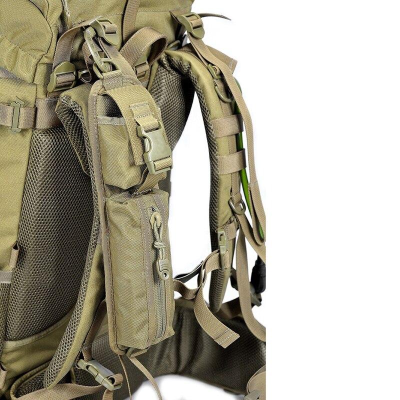 Hombro táctico Correa misceláneas bolsas para mochila Paquete de accesorios clave linterna bolsa Molle acampar al aire libre EDC Kits herramientas bolsa