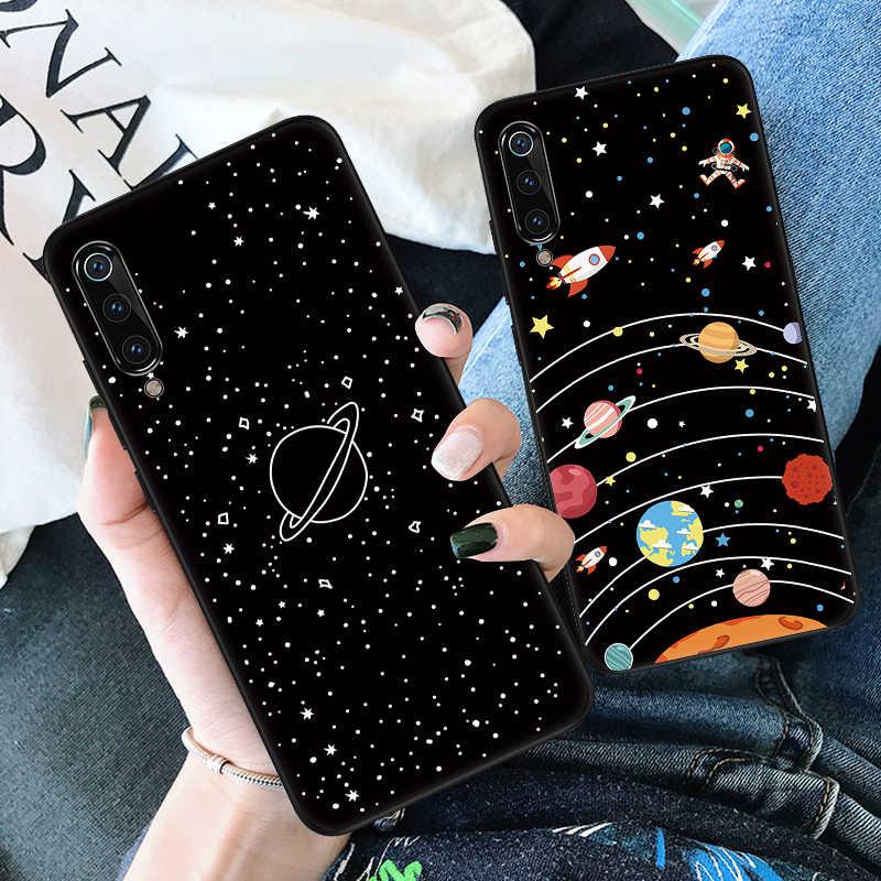 Silikon Hitam Matte Phone Case untuk Xiao Mi Mi 9 Se Mi A2 8 Lite A1 Poco F1 MI 6 6X 5X Max 3 2 Mi X 3 2 S Berwarna-warni Pola TPU Cover