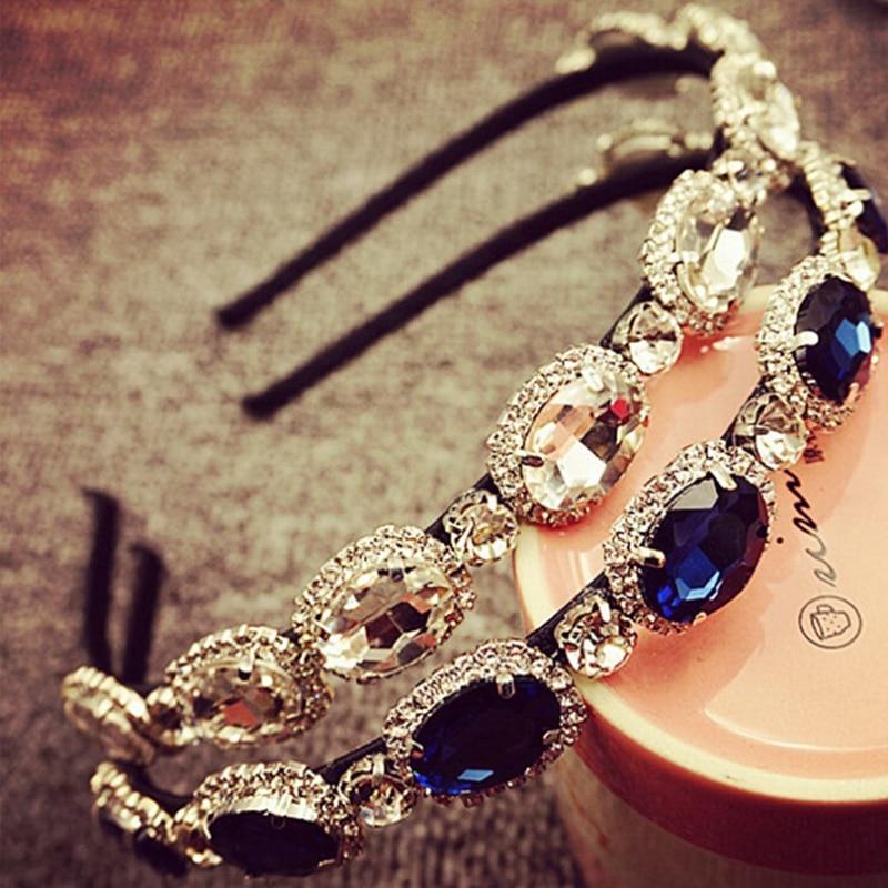 Womens Lady Elegant Luxury Rhinestone Diamond Charm Headbands Wedding Bridal Flower Headband Hairbands   Headwear   Hair Accessories