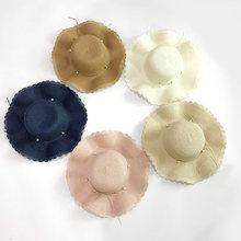 Шляпа женская Соломенная складная Панама с волнистыми боками