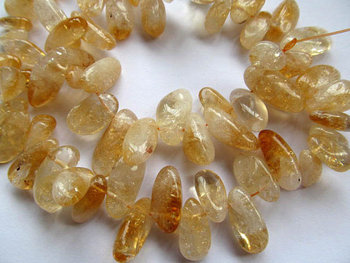 bulk genuine citrine quartz freeform irregular branch yellow jewelry beads 10-20mm --5strands