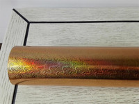 Hot Stamping Foil Holographic Foil Gold Color A48 For Paper Or Plastic 64cm X120m