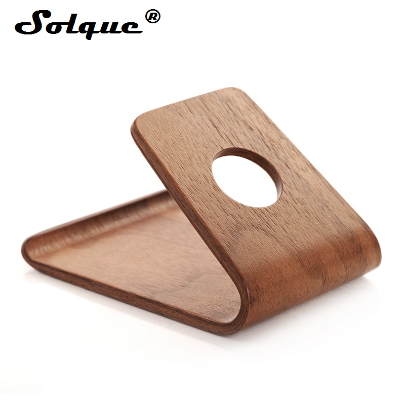 Solque Universal Wood Holder For Iphone X 8 7 6 6s Plus 5s