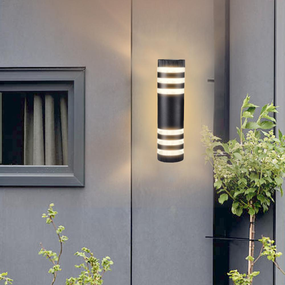 Outdoor IP65 Waterproof LED Wall Light AC 85-265V Up Down Aluminum Cylinder Modern Style Dual Head E27 Wall Lamp for Courtyard black led wall light waterproof ip65 stainless steel up down gu10 double wall lamp indoor outdoor wall lamp ac 85 265v