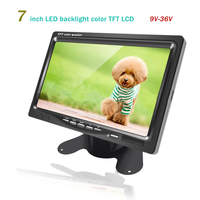 7 Inch TFT Car Monitor for For TV Satellite Car Video Player DVD Car Backup Camera Home Security LED Color Auto Display Screen
