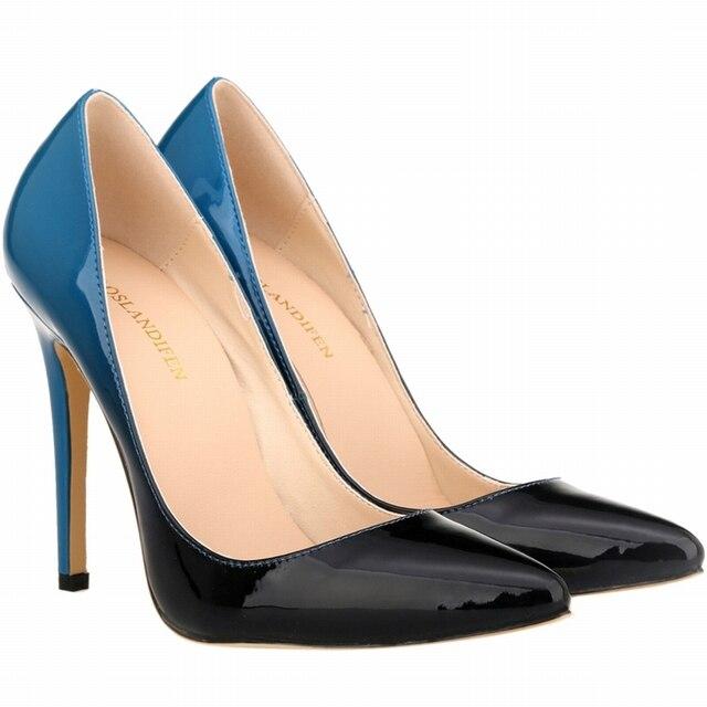 Бренд Точка Toe Лакированной Кожи На Высоких Каблуках Насосы Обувь 2016 Новый Женщина Красные Сандалии На Высоком Каблуке Свадебные Туфли 35-42 размер SMYNLK-A0063