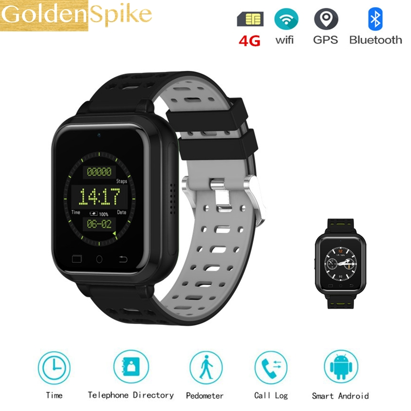 4G smart watch M1 Android 6.0 MTK6737 Quad Core 1GB/8GB SmartWatch Phone Heart Rate Sim Card Support Change Strap 18mm maxinrytec 4g smart watch dm18 android 6 0 mtk6737 quad core 1gb 16gb gps wifi smartwatch phone heart rate sim card pk dm368 h5
