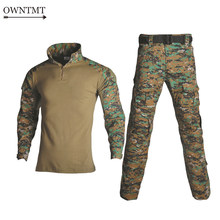 Militaire Uniform Tactische G3 BDU Camouflage Combat Set Airsoft War Game Shirts Broek Militaire Multicam Jacht Camo Kleding(China)