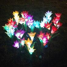 Садовый светильник на солнечных батареях, наружный водонепроницаемый светильник, светодиодный Сказочный светильник, светильник для газона, Рождественский Декор#5