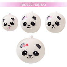 Cartoon Squishy Panda Bread Eating Expression Panda Slow Rising Squish Antistress Toy Christmas Gifts Key Mobile Phone Chain(China)