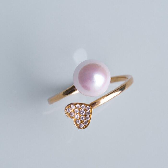 Mariage éternel femmes cadeau mot 925 argent Sterling véritable grand nom Seiko, japonais Akoya naturel eau de mer perle anneau, amour l