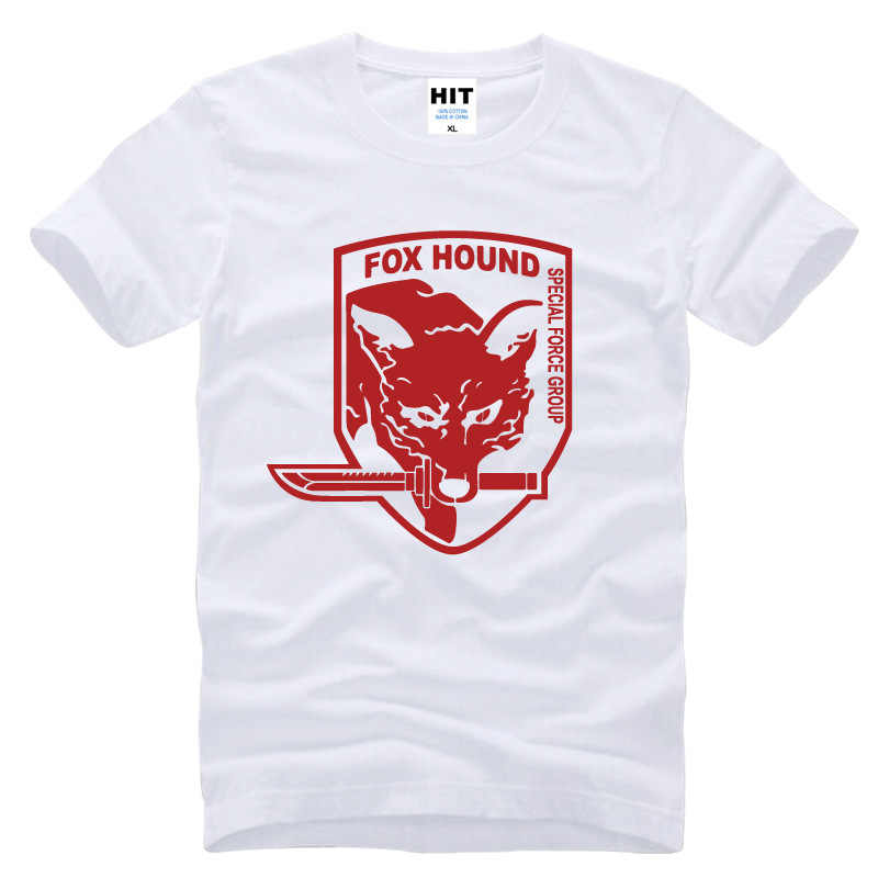 574670b8ffdc4 ... Metal Gear Solid MGS Fox Hound Video Game Mens Men T Shirt Tshirt  Fashion 2015 Short ...