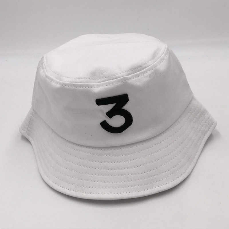 848afcdc3b9 ... which in shower black CHANCE 3 bucket hat hip hop women white embroidery  the rapper fishing ...