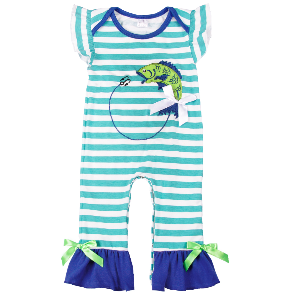 Baby Girls Boys Newborn Cotton Striped Clothes Infant Embroidery Clothing Sets Birthday Party Outfit Jumpsuits   Romper