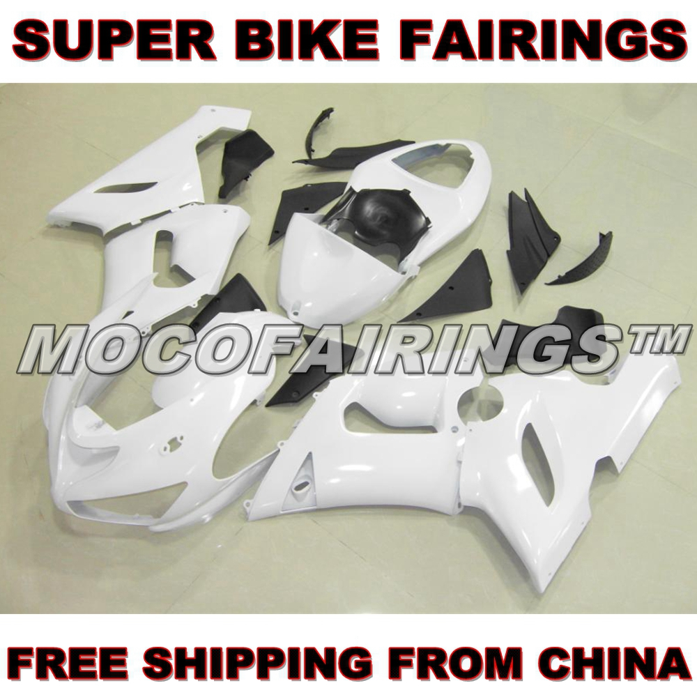 Motorcycle Unpainted ABS Fairing Kit For Kawasaki ZX-6R ZX6R 2005 2006 05 06 Fairings Kits Front Nose Bodywork Pieces front fender fairing for kawasaki ninja zx6r 2000 2001 2002 unpainted white new replacement zx 6r 00 02