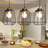 American Style Retro Industrial Wind Creative Personality Restaurant Cafe Tie Iron Solid Wooden Pendant Lamp discount